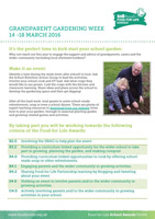 Grandparent Gardening Week flyer